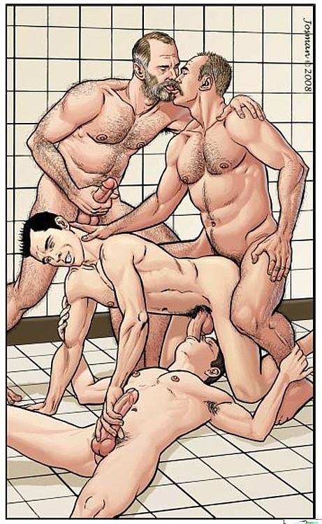 Гей порно секс комиксы