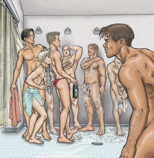Gay orgy ian gives hayden a huge boycrush 2