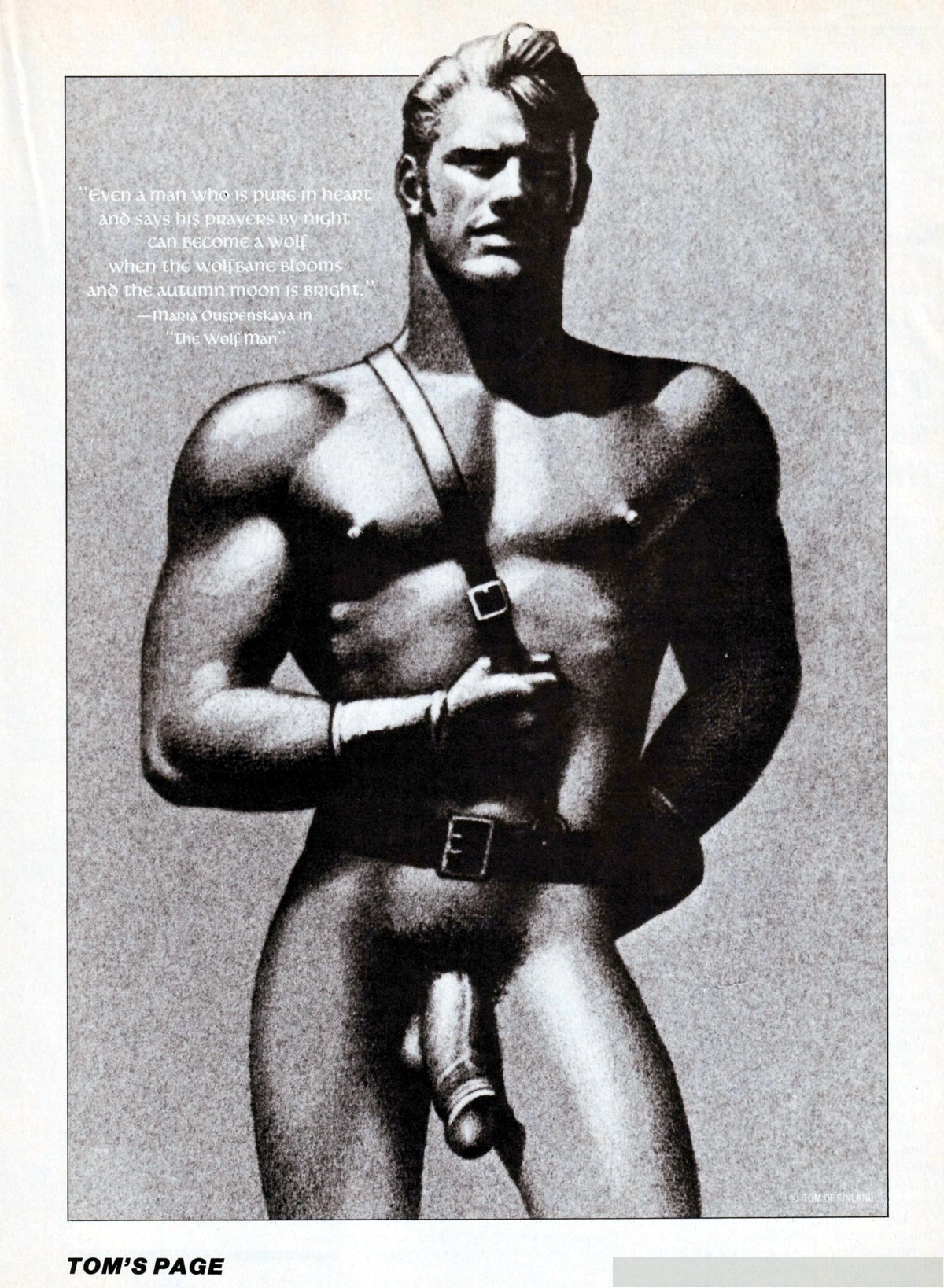 tom of finland in touch magazine