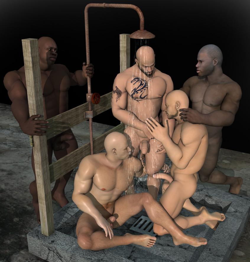 Gay 5 ejaculating dildo